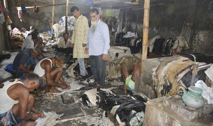 চামড়া নিয়ে বিপাকে দিনাজপুরের চামড়া ব্যবসায়ীরা
