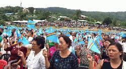 নাগা জাতীয় পতাকা হাতে মণিপুর  রাজ্যে  স্বাধীনতা দিবস পালন