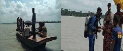 ছেলেকে বাঁচাতে গিয়ে নদীতে পড়ে বাবা নিখোঁজ