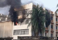কোটালীপাড়া উপজেলা পরিষদ কার্যালয়ে অগ্নিকান্ড
