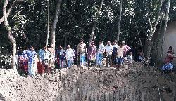 মতলবে স্কুল ভবন নির্মাণে কবর উচ্ছেদ, এলাকায় উত্তেজনা