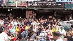 নয়াপল্টনে খালেদার মুক্তির দাবিতে বিক্ষোভ
