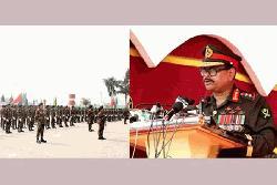 ৬টি ইউনিটকে রেজিমেন্টাল কালার প্রদান করলেন সেনাবাহিনী প্রধান