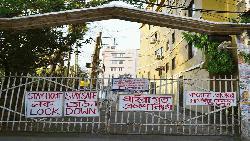 সিলেটে এক পাড়ায় স্বঘোষিত 'লকডাউন'