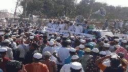 ফ্রান্সে বিশ্বনবীর অপমান : টঙ্গীতে হেফাজতে ইসলামের বিক্ষোভ