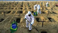 ব্রাজিলে করোনায়  মৃতের সংখ্যা ১৬৯,০০০ ছাড়িয়েছে